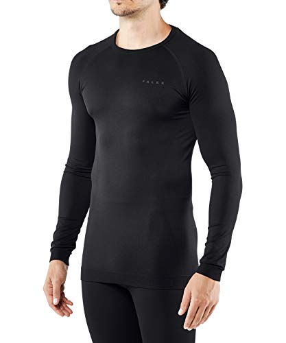 FALKE Herren Maximum Warm Comfort Fit M L/S SH Baselayer-Shirt, Schwarz (Black 3000), L