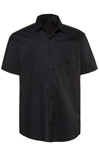 JP 1880 Herren große Größen bis 8XL, Halbarm-Hemd, Businesshemd, Popeline-Gewebe, bügelfrei, Kent-Kragen, Brusttasche schwarz 3XL 713990 10-3XL