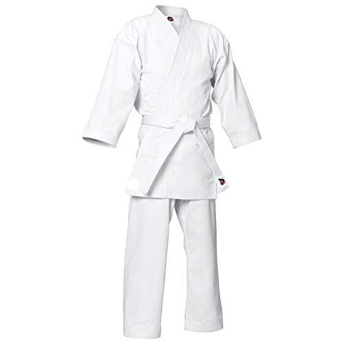 MYmixtrendz. Kids Student weißen Karate Anzug Poly/Baumwolle (Pre-Shrunk) Uniformen Jungen Kimono WithFREE weißen Gürtel  (White, 0/130)