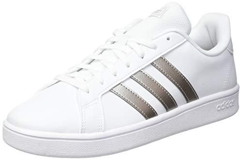 adidas Damen Grand Court Base Laufschuh, Weiß Metallic, 38 2/3 EU