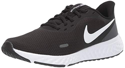 Nike Womens Revolution 5 Running Shoe, Black/White-Anthracite, 38 EU