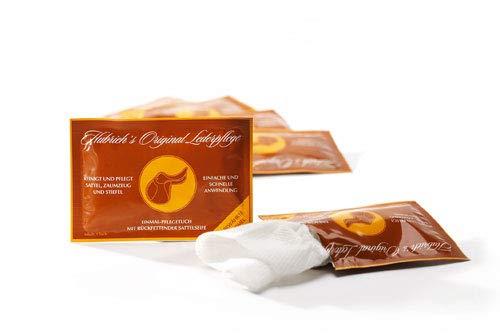 Hubrich's Original Lederpflege - pflegendes Reinigungstuch für Glattleder, einzeln verpackt (20)