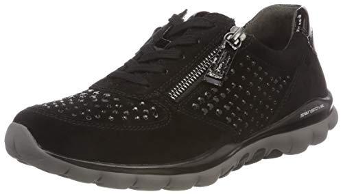 Gabor Shoes Damen Rollingsoft Derbys, Schwarz (Strass) 87, 38.5 EU