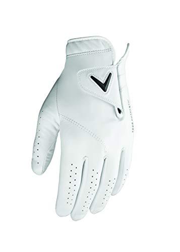 Callaway Herren Golf Tour Authentic Linkshänder Handschuhe, Klein, Weiß