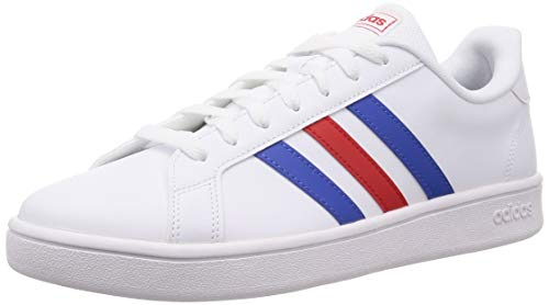 adidas Herren Grand Court Base Tennisschuh, FTWR White Blue Active Red, 42 2/3 EU