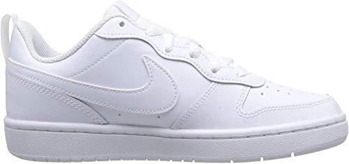 Nike Jungen Court Borough Low 2 (GS) Basketballschuhe, Weiß (White/White/White 100), 38 EU