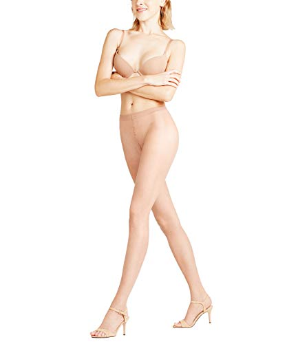 FALKE Damen Shelina Toeless 12 DEN W TI Strumpfhose, ultra-transparent, Beige (Golden 4699), S-M