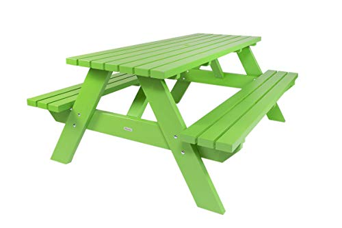 Picknicktisch Curaçao grün 180 cm, Holz, Picknickbank grün, Trend aus Holland