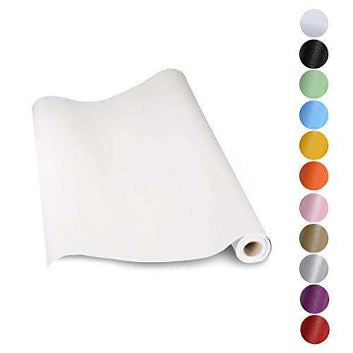 KINLO Aufkleber Küchenschränke weiß 60x500cm (3㎡) aus hochwertigem PVC Tapeten Küche Klebefolie Möbel wasserfest Aufkleber für Schrank selbstklebende Folie Küchenfolie Dekofolie MIT GLITZER