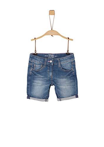 s.Oliver Mädchen Regular Fit: Jeans-Shorts blue stretched den 128.REG