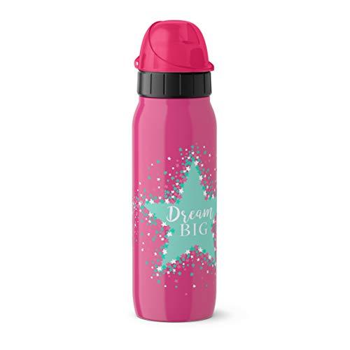 Emsa Iso2Go 518378 Isolierte Trinkflasche, 0,5 Liter, AutoClose Verschluss, Stars