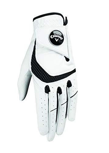 Callaway Damen Syntech Linkshänder Golfhandschuh (2019 Version), Mittlere, Weiß