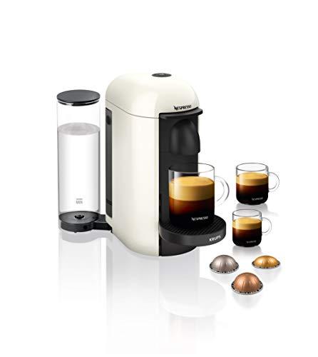 Krups Nespresso XN9031 Vertuo Plus Kaffeekapselmaschine   1,1 Liter Wassertank   Für 5 Kaffeegrößen geeignet   Automatische Abschaltung   Weiß