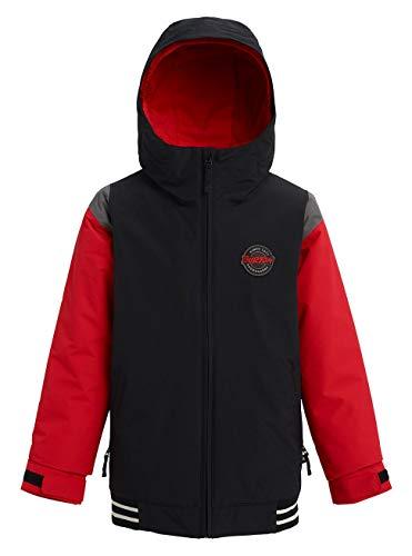 Burton Jungen Game Day Snowboard Jacke, True Black/Flame Scarlet, XL