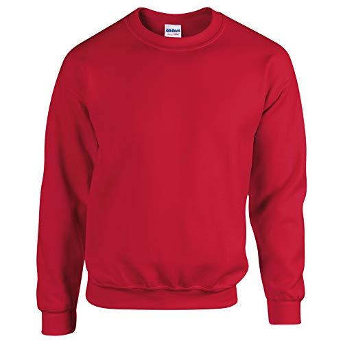 Gildan Herren Sweatshirt, Rot, L
