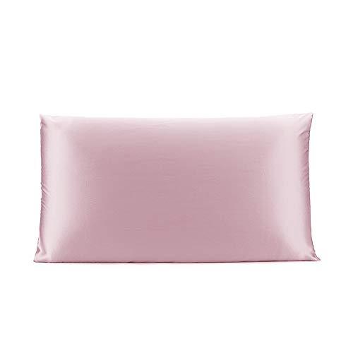 OLESILK 100% Seide Kissenbezug Kissenhülle Haar- und Hautpflege mit Verstcktem Reißverschluss 19 Momme 1 Stück Lotos 40×80cm