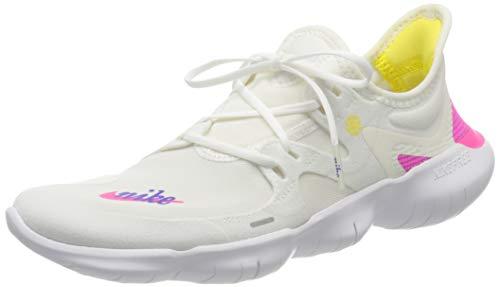 Nike Damen WMNS Free Rn 5.0 JDI Traillaufschuhe, Mehrfarbig (White/Laser Fuchsia/Summit White 100), 39 EU