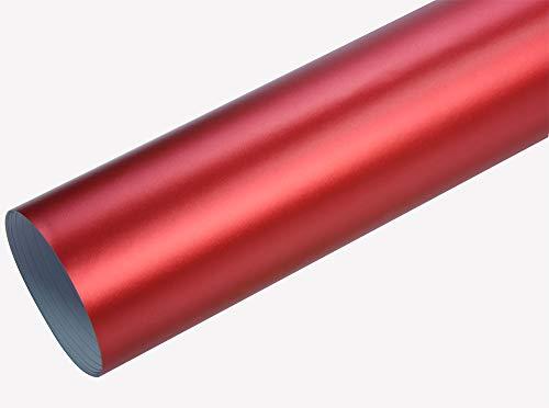 Neoxxim 24,22€/m2 Premium - Auto Folie - Chrom MATT Rot Ice 30 x 150 cm - blasenfrei mit Luftkanälen ca. 0,16mm dick selbstklebend flexibel