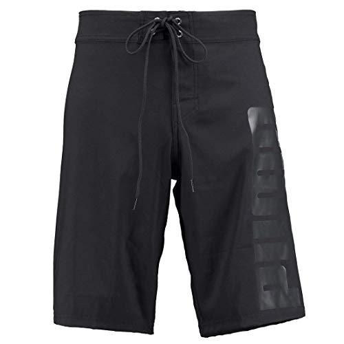PUMA Herren Lange Badehose Badeshorts Long Board Swim Shorts, Farbe:Black, Bekleidungsgröße:L