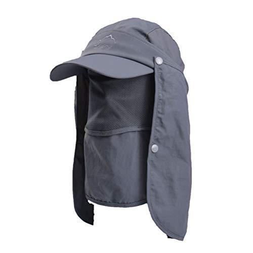 360° Sonnenschutz Sonnenhut Anti UV Strandhut Sonnenhut Angelnhut Schirmmütze Hüte mit Abnehmbarer Maske für Jagd Camping Angeln Wandern Radfahren
