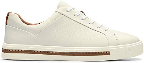 Clarks Damen Un Maui Lace Sneaker, Weiß (White Leather), 38 EU