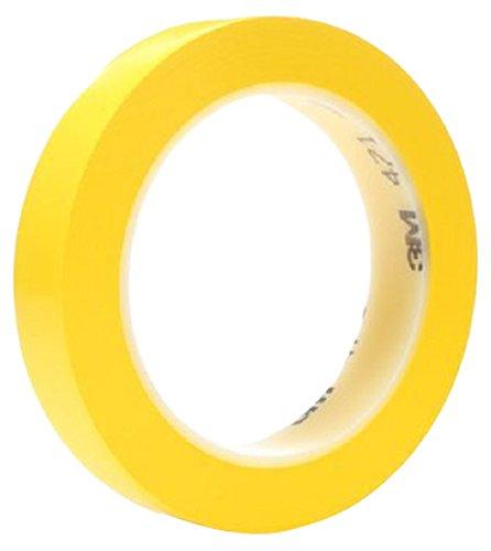 3M 471 Hochwertiges Weich-PVC-Band, 25 mm x 33 m, gelb