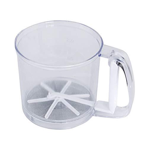 BESTonZON Mehlsieb Feinmaschigenfilter Kunststoff Mehlsieb Handschüttler Zucker Pulver Küchensieb Backwerkzeug für Schokoladenkaffeepulversieben