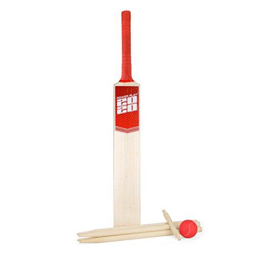 Unbekannt PowerPlay BG889 Deluxe Cricket-Set mit Cricketschläger, Ball, 4 Stämmen, Bügel und Tasche, Größe 5 Schläger