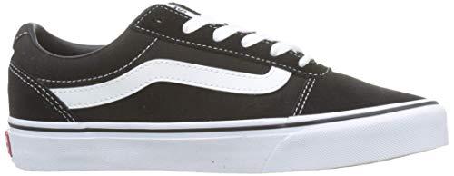 Vans Damen Ward Suede/Canvas Sneaker, Schwarz Black/White Iju, 42 EU