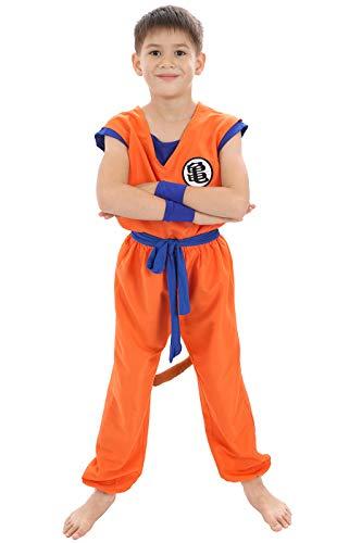 CoolChange Dragon B. Kinder Kostüm | Son Goku Trainings Anzug beim Herr der Schildkröten | Größe: 130