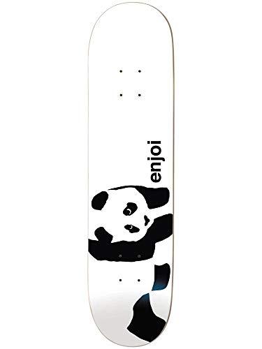 Enjoi Whitey Panda Wide R7 Skateboard-Brett/Deck, Weiß, Whitey Panda Deck, 8.375