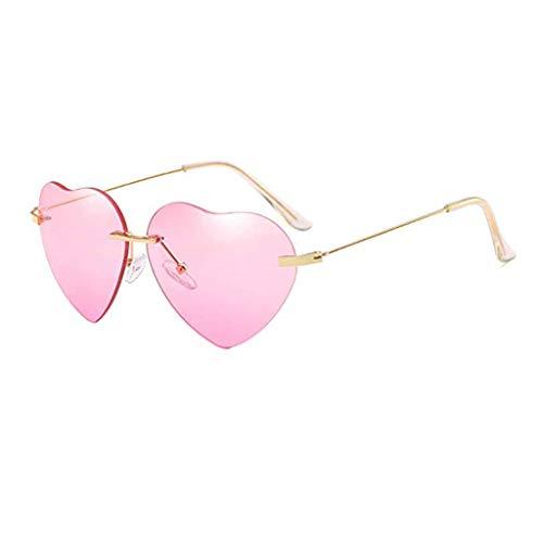 New Retro Love Ocean Piece Sonnenbrille Street Beat Pfirsich herzförmige Sonnenbrille Metallrahmen Verspiegelt Linse Herren Damen Sonnenbrille Feifish Brille online anprobe