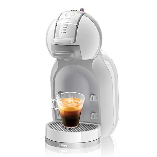 Krups Nescafé Dolce Gusto Mini Me KP1201 Kapsel Kaffeemaschine (für heiße und kalte Getränke, 15 bar Pumpendruck, automatische Wasserdosierung, Flow-Stop Technologie, 0,8 l Wassertank) weiß/grau