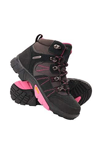 Mountain Warehouse Edinburgh Vibram Youth Wasserfeste Kinder Stiefel - Atmungsaktive, leichte Wanderstiefel, Netzfutter, strapazierfähige Regenstiefel. Wanderschuhe Rosa Kinder-Schuhgröße 36 DE
