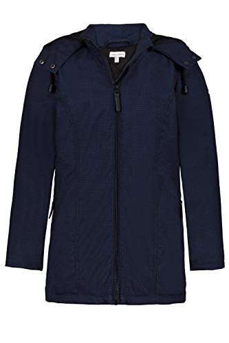 GINA LAURA Damen Softshell-Jacke, Karo, warmes Steppfutter Nachtblau L 723517 77-L