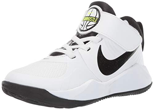 Nike Unisex-Kinder Team Hustle D 9 (ps) Basketballschuhe, Weiß (White/Black/Volt 000), 28 EU