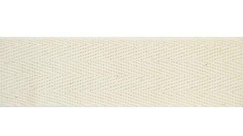 NTS Nähtechnik 50m Rolle Köperband, Nahtband aus 100% Baumwolle (rohweiß, 10mm)