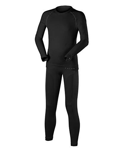 FALKE Kinder Unterwäsche Set, Underwear Maximum Warm für Mädchen und Jungen, Langarm und Leggings, 1 er Pack, schwarz, Größe: 134-140