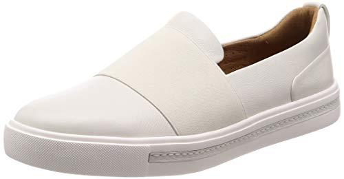 Clarks Damen Un Maui Step Slipper, Weiß (White Leather), 38 EU