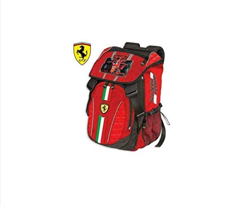 DIVASPORT Rucksack erweiterbar 29X41X13.5 Scuderia Ferrari - Offizielles Produkt