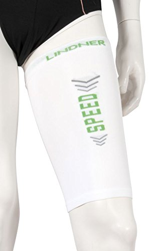 LINDNER Socks - Kompressions-Oberschenkel-Beinlinge - Upper leg tubes (L, weiß)