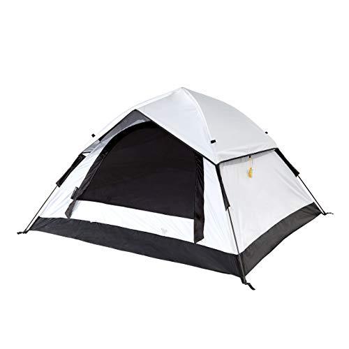 Lumaland Outdoor Cool Reflective Pop Up 3 Personen Wurfzelt - 210x190x110 cm - wasserdicht, licht-reflektierende Technologie, optimale Temperatur - Sekundenzelt, Camping Zelt - mit Tragetasche