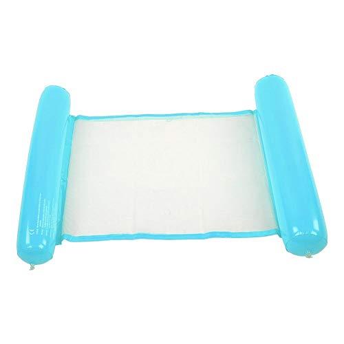 BYARSS Aufblasbare schwimmende Schwimmbett Größere Verdickte tragbare Wasser Hängematte Pool-Liegestuhl Foto Sommer Frauen Männer (blau)
