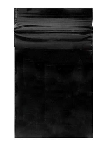 Welties Druckverschlussbeutel 50µ 40x60mm 100Stk. - Schwarz Blickdicht Diskret Wiederverschließbar Zip-Beutel