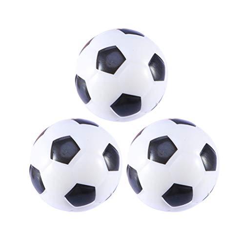 BESPORTBLE 3 stücke Mini Sportbälle PU Schaum Fußbälle Stressbälle Favor Spielzeug für Kinder Party Stressabbau (Weiß)