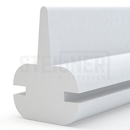 Duschdichtung Duschkabinen Dichtung 120cm SDD01 WEISS - Silikon Wasserabweiser Silikondichtung Dusche Dichtprofil Duschabtrennung Schwallschutz Glastürdichtung Duschkabine Glasduschen