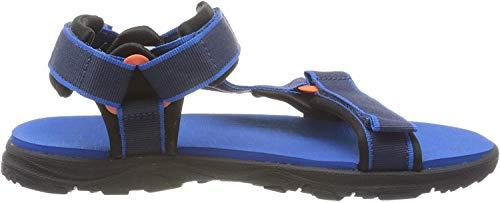 Jack Wolfskin Unisex-Kinder Seven SEAS 3 K Sport Sandalen, Blau (Blue/Orange 1174), 40 EU