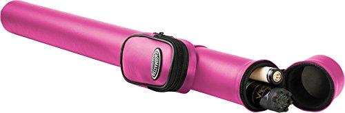 Casemaster Q-Vault Supreme Billiard/Pool Cue Hard Case, Holds 1 Complete 2-Piece Cue (1 Butt/1 Shaft), Pink