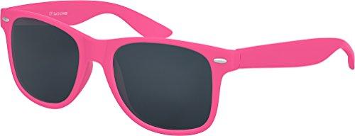 Balinco Sonnenbrille UV400 CAT 3 CE Rubber - mit Federscharnier für Damen & Herren (pink - smoke)