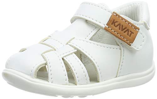 Kavat Unisex-Kinder Rullsand Geschlossene Sandalen, Weiß (White 988), 23 EU